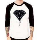 Diamond-Blood melting DRAKE DOPE WASTE Baseball Jersey t-shirt 3/4 sleeve Raglan