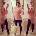 Hot Sale Women Ladies Long Sleeve Loose Chiffon Casual Blouse Shirt Tops Blouse