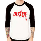 New DEXTER Baseball t-shirt 3/4 sleeve Raglan Tee