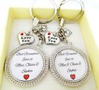 S.keyring SET Best Grandad / Grandma  ever of... Love you,Grandparents gift,xmas