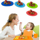 Silicone Infants Portable Dish Toddlers Placemat Plate Baby Feeding One-piece