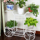Elegant Cart Design 6 Tier Metal Planter Flower Pot Holder Display Rack Stand