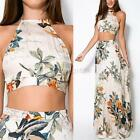 Sexy Womens Ladies Two Piece Top Crop and Skirt Set Ladies Bandage Bodycon Dress