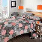 Oracle Paisley Patchwork Style Grey / Duvet Quilt Cover Bedding Set Double