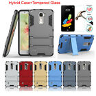 Armor Hybrid Case+Premium Tempered Glass Screen Protector For LG G Stylo 2 LS775