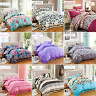 3/4Pcs Adequate Printed Bedding Duvet Cover + Flat Sheet Pillowcases Bed Set