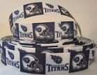 "GROSGRAIN TENNESSEE TITANS FOOTBALL 1"" INCH RIBBON FOR HAIR BOWS DIY CRAFTS $7.19 USD on eBay"