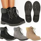New Ladies Womens Faux Fur Grip Sole Winter Warm Ankle Boots Trainers Shoes Size