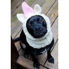 Beige and Pink Unicorn Crochet Snood for Dogs and Kids - Free Shipping