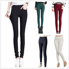 New Women Full Length Stretch Leggings Slim High Waist Trouser Size 8 10 12 14
