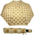 Umbrella MOSCHINO Automatic closure Beige with toys bear 8085 Gift