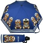 Umbrella MOSCHINO blue with Teddy toy Openclose 8001