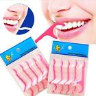 25-125PCS Dental Floss Flosser Pick Teeth Toothpicks Stick Oral Care Tooth Clean