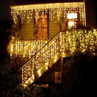 Bedroom Garden Christmas New 3.5M 96 LED Fairy Curtain Icicle Starry  Lights