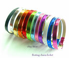 New style 8mm Mix Metal PU leather Wristband Bracelet DIY slide charms letters