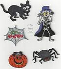 VAT Free Groves Iron on or Sew on Motif Spooky Halloween Spider Web Pumpkin New