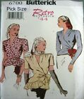 Butterick Sewing Pattern 6700 Retro Ladies 40s Wrap Blouse Top Choose Size