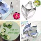 Stainless Steel Biscuit Baking Peony Flower Leaf Cutter Fondant Cake Cookie Mold