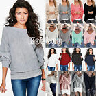 Oversize Women Loose Knitwear Long Sleeve Pullover Casual Baggy Jumper Top Shirt