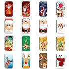 CHRISTMAS XMAS SNOWMAN SANTA PHONE FLIP WALLET BOOK POUCH SLOT CASE FOR IPHONE