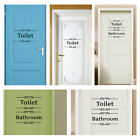 Removable Art Bathroom Toilet Door Sign Mural Wall Decal Decor Wall Stickers New