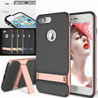 Original Rock Hybrid Bumper Rubber Kickstand Case For Apple iPhone 7 7S Plus
