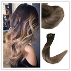 Ombre Balayage Clip in Human Hair Extensions Brazilian Human Hair 10pcs/120g