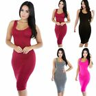 NEW Women\'s Summer Casual Sleeveless Bodycon Evening Party Cocktail Mini Dress