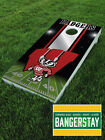 Premium Vinyl Decal Wraps (2) for Cornhole Bags Game- Wisconsin Badgers (WB1)