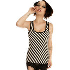 Women's Folter Blood Lines Corset Beater Black/White