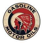 Large 'Gasoline Motor Oils ' Tin Sign Tin Plaque