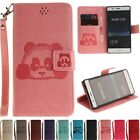 Leather W/strap Stand Flip Cards Wallet Case Cover For Huawei Ascend P8 P9 Lite