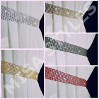 PAIR (x2) OF DIAMANTE CRYSTAL SPARKLE CURTAINS VOILES TIE BACKS HOLD BACKS