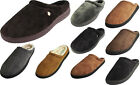 Perry Ellis Portfolio Mens Microsuede Clog Slide Slip On Indoor Outdoor Slippers