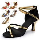 New Women's Ballroom Latin Room ClassicTango Dance Shoes heeled Salsa 6 Colors