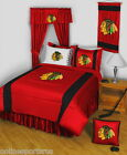 Chicago Blackhawks Comforter Sham and Valance Twin Full Queen King Size