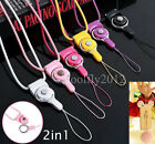 2in1 Detachable Neck Strap lanyard Chain For iPhone Samsung LG Smart Phones