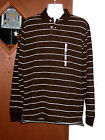 Duck Head Athletic Fit Polo Long Sleeve Striped Men Sz XL Brown NWT Retails $38