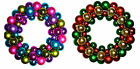 Multicoloured Bauble Christmas Wreath Decoration Large 34cm (Choice of Colours )