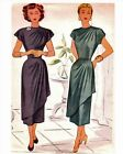 #120 1940'S DOUBLED DRAPED COCKTAIL DRESS PATTERN