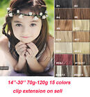 Women's FULL HEAD CLIP IN REMY REAL HUMAN HAIR EXTENSIONS DE CHEVEUX 15COLORS
