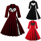 Rockabilly 50s Vintage Women Swing Pinup Cocktail Party Evening Dress Plus Size