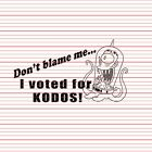 Don't Blame Me I Voted For Kodos Decal Sticker Funny Meme Car Window Laptop