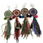 New Arrived Vintage Ethnic Handcraft Glass Seed Beads Peace Adorned Key Chain