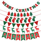 1PCS XMAS Party Decor Christmas Hanging Bunting Garland Banner Flags Decorations