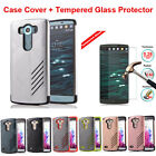 Shockproof Hybrid Rugged Rubber Protective Hard Cover Case Shell For LG Phones