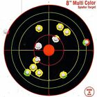 "75 Pack SHOOTING TARGETS Glow Shot Reactive Splatter Gun & Rifle 8"" Paper Target"