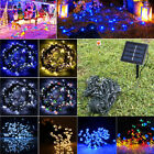 65ft 200 LED 12v Solar Powered String Fairy Light Bulb Lamp Xmas Wedding Decor