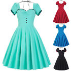 Women's Retro Vintage Style Dress Swing Pinup Housewife 1950's Cocktail Dress
