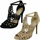 Anne Michelle F10549 Cut Out Detail High Heel Sandals